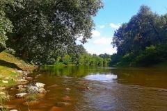 Быстрое течение реки Западный Буг.