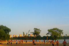 На одном из городских пляжей Бреста.