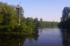 Пограничная вышка на границе Беларусь- Польша  в городе Брест.