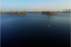 Одна из самых широких рек Беларуси.