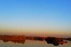 Река Мухавец в Бресте с небольшой высоты.