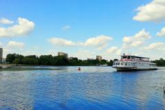 На теплоходе по реке Мухавец в Бресте.
